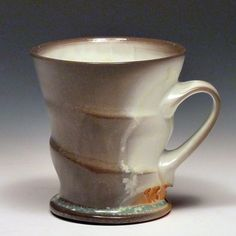 Matt Long - 2013 porcelain, soda fired coffee mug