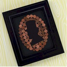 Kids will have fun collecting pennies for this Lincoln Penny Silhouette. Have the kids see who can find the oldest coin.