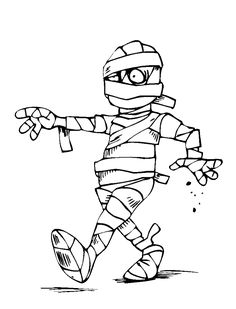 Trash Pack Skummy Mummy Coloring Page Free Printable Coloring