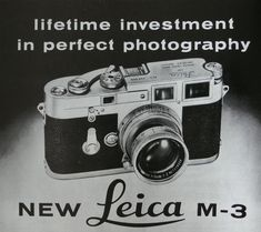 An ad that introduced the new Leica M-3.