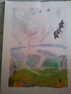 a brilliant Halloween picture from Saturday's Art Club at Faux Arts