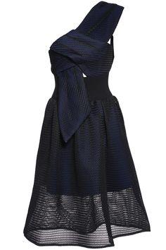 Ein Schulter Glockenkleid, schwarz-Sheinside