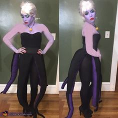 Angela: My friends and I decided to go with Disney Villians this year. The Princess route was far too easy. I did all the makeup and made my Ursula costume because...