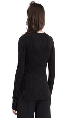 Acne Studios Carin merino black is a body conscious pullover sweater with wide ribbing and a crewneck. Acne Studios, Pullover Sweaters, Crew Neck, Turtle Neck, How To Wear, Black, Fashion, Moda, Black People