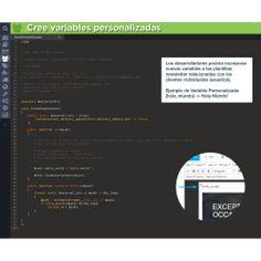 Cree variables personalizadas. Los desarrolladores podrán incorporar nuevas variables a las plantillas newsletter relacionadas con los clientes individuales (usuarios). Ejemplo de Variable Personalizada: {hola_mundo} - Hola Mundo!