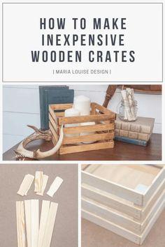Pinterest Banner Advertising Inexpensive Wooden Crates Diy Décoration, Easy Diy, Palette Diy, Diy Bathroom, Bathroom Storage, Kitchen Storage, Diy Holz, Diy Wood Projects, Diy Storage Projects