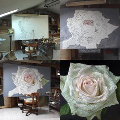 Realistic Paintings of Flowers and Roses. By Gioacchino Passini. Painting Lessons, Painting & Drawing, Hyper Realistic Paintings, Landscape Drawings, Art Classroom, Beautiful Paintings, Contemporary Artists, Art Tutorials, Painting Inspiration