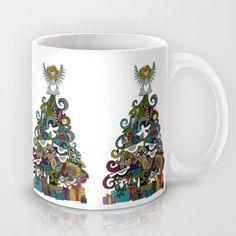 angel tree Mug #christmas #cute #mug #sharonturner #society6 #angel