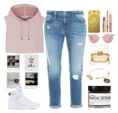 """March Madness: High Tops"" by lovesammi98 ❤ liked on Polyvore featuring Frame Denim, adidas, SAM, Moschino, Fig+Yarrow, Alex and Ani, Givenchy, Christian Lacroix and Oliver Peoples"