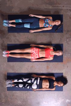 Rise up, go hard, sweat it out. This core exercise will engage your muscles and leave you and your crew feeling strong. Start laying down, then engage your core by slowly lifting up both your legs and arms to form a V-shape with your body. Click through for outfit inspiration.