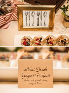 mini greek yogurt parfaits