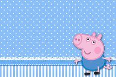 George Pig (Peppa Pig) – Kit Completo com molduras para convites, rótulos para guloseimas, lembrancinhas e imagens!