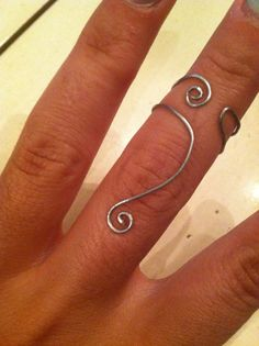 Nonnie...you need to make this! Above The Knuckle Silver Wire Swirl Ring