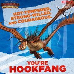 This Monstrous Nightmare has quite the temperament, but he's a real fighter. If this sounds like you, then your Dragon DNA is most like Hookfang! #DreamWorksDragons