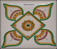 Floor Art-Multi Color Kundan by ManoramasJewellery on Etsy