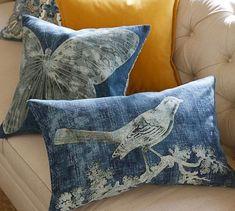 Batik Printed Critters Pillow Cover | Pottery Barn