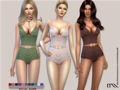 EsyraM's Petite Fleur lace lingerie