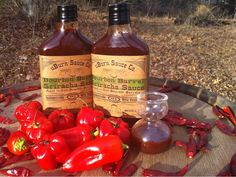 Sriracha made from ripe chilies, molasses, fresh garlic & sea salt. Cooked in a copper kettle aged 3 months in a charred Bourbon Barrel