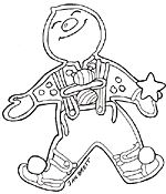 Gingerbread Boy from Jan Brett site; lots of others available to make a mural