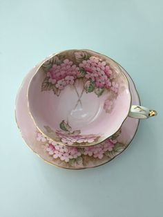Paragon pink cup and saucer double warrant by TorontoTreasures