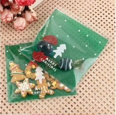 100PCS-Christmas-Cookie-Candy-Bags-Gift-Packaging-Bag