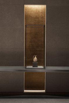 Interior Design Museum of Islamic Art Jean-Michel Wilmotte Design Entrée, Lobby Design, Deco Design, House Design, Niche Design, Design Ideas, Interior Architecture, Interior And Exterior, Vitrine Design