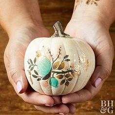 Try these easy no-carve pumpkin decorating ideas to avoid injuries and create perfect pumpkins without carving. These easy pumpkin designs will have the whole family NOT carving this year. Halloween Designs, Easy Halloween Crafts, Fall Crafts, Halloween Pumpkins, Fall Halloween, Thanksgiving Crafts, Teen Crafts, Pretty Halloween, Halloween Wreaths