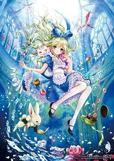 Alice in wonderland Anime! Manga Anime, Anime Body, Art Anime, Anime Kunst, Fanarts Anime, Manga Girl, Anime Pokemon, Anime Kawaii, Art Disney