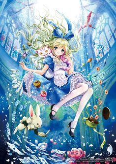 Alice au pays des merveilles  Dessin plein de couleurs et extraordinaire !
