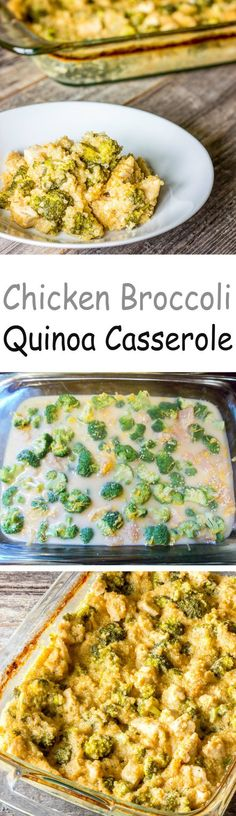 Chicken Broccoli Quinoa Casserole - The flavors of broccoli rice casserole using quinoa instead of rice.  And, it all comes together in one casserole dish.