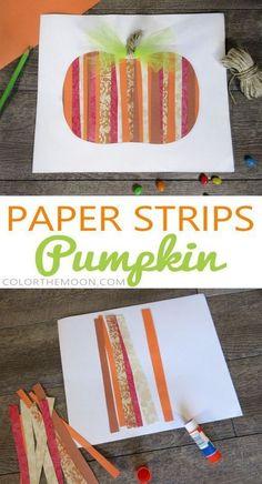 Paper Strips Pumpkin: An Easy Fall Craft for Kids! This … Paper Strips Pumpkin: An Easy Fall Craft for Kids! This Paper Strips Pumpkin is SO EASY to make! What a great fall craft for kids! Easy Fall Crafts, Fall Crafts For Kids, Fall Crafts For Preschoolers, Pumpkin Crafts Kids, Fall Crafts For Toddlers, Fall Activities For Kids, Summer Crafts, Simple Crafts, Paper Crafts For Kids