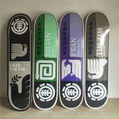 "NEW Skateboard Decks 8""made by Canadian Maple Element Series Skateboarding Deck 8""x31.75"" Shape Skate Patins Street"