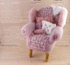 bella mcbride felt | ... NeedleFelted Soft Sculpture by Bella McBride. $89.00, via Etsy
