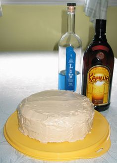 Bake a White Russian cocktail right into a cake!