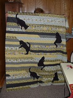 Another great applique for a Jelly Roll Race quilt.