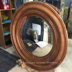 Antique Convex Mirror Farfalla MG 050015 Surakarta, Convex Mirror, Mirrored Furniture, Venetian Mirrors, Wooden Frames, Antiques, Wall, Antiquities, Antique