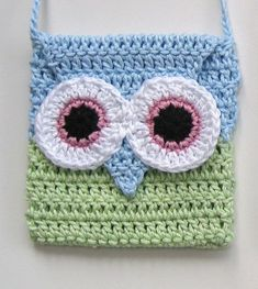 Crochet Owl bag INSTANT DOWNLOAD PDF pattern, girl, long strap, easy ...