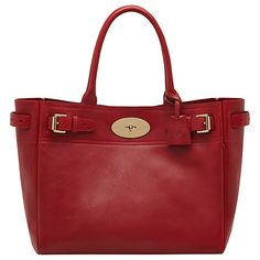 00d53edfb4 Buy Mulberry Bayswater Leather Tote Bag Online at johnlewis.com Red Tote Bag,  Tote