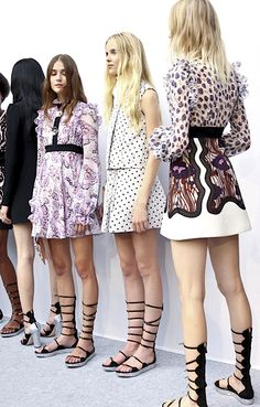 Backstage at Giambattista Valli Spring 2016 | Shop now: http://brgdf.co/V7mtjl