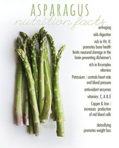 Nutrition Facts : health benefits of asparagus , Nutrition Facts : health benefits of asparagus Asparagus – pure taste of spring! I just picked up some beautiful organic asparagus this morning and . Health Benefits Of Asparagus, Coconut Health Benefits, Salmon Nutrition, Broccoli Benefits, Benefits Of Vegetables, Vegetable Benefits, Nutrition Education, Nutrition Jobs, Health Care