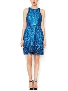 Beaded Embroidered Racertop Dress by Monique Lhuillier at Gilt