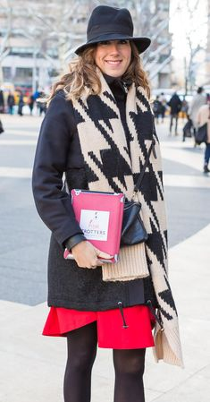 The best graphical outfits as worn by women during New York fashion week