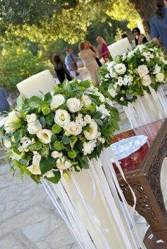 Unity Candle with Verse - Wedding Candles Grecian Wedding, Greek Wedding, Rustic Wedding, Church Candles, Orthodox Wedding, Church Wedding Decorations, Flower Arrangements, Wedding Planning, Ideas