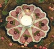 Candle Mat - Hearts & Flowers