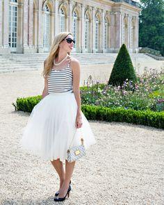 Tulle Skirt, Chanel, Louis Vuitton, Christian Louboutin, Pink Bubbly Blog, Paris, Versailles