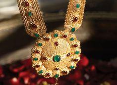 Tanishq Telugu Bride Wedding Jewellery Collection - Long Chain Pendant