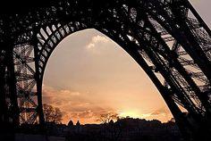 Rita Crane Photography: France / Paris / Eiffel Tower  / sunset / / Eiffel Tower Silhouette, Paris