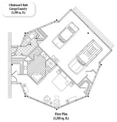 HOME ADDITIONS Collection HA-0402 (1300 sq. ft.) 1 Bedrooms, 1 Baths
