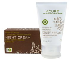 Acure Organics Night Cream Chlorella Growth Factor $15.12 Vitacost