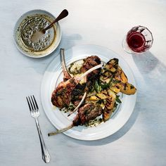 These best-ever lamb chops get served with a supertasty salsa verde made with parsley, arugula, capers, lemon and toasty burned bread. Get the recipe at Food & Wine.